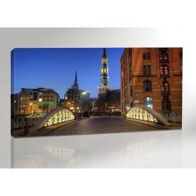 Hamburg Speicherstadt Bruecke 200 x 100 cm