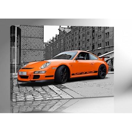 PORSCHE 911 GT3 RS ORANGE 140 x 100 cm