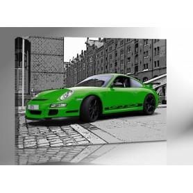 PORSCHE 911 GT3 RS GRÜN 140 x 100 cm
