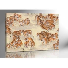 CHINESISCHE TIGER 140 x 100 cm