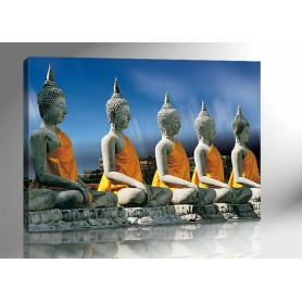 BUDDHA THAILAND BLAU 140 x 100 cm