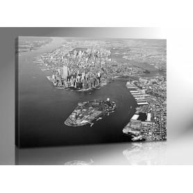NEW YORK LUFTAUFNAHME 140 x 100 cm