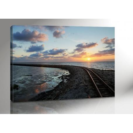 Nordsee Sunset 140 x 100 cm