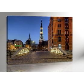 Hamburg Speicherstadt Bruecken I 140 x 100 cm