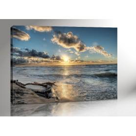 DARSS SUNSET | OSTSEE | FISCHLAND | 140 x 100 cm