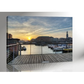 Hamburg Sunset 140 x 100 cm