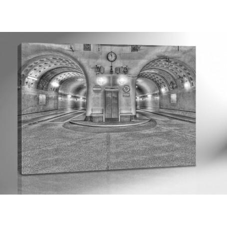 HAMBURG ALTER ELBTUNNEL HDR 140 x 100 cm