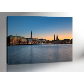 Hamburg Alster Lights 140 x 100 cm