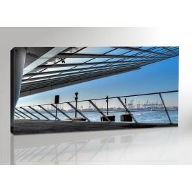 Hamburg Dockland Blue Panorama 200 x 100 cm