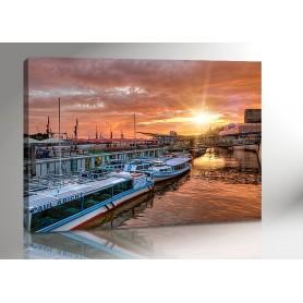 Hamburg Hafen Sundown 140 x 100 cm