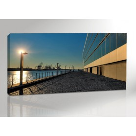 Hamburg Dockland Zoom Panorama 200 x 100 cm