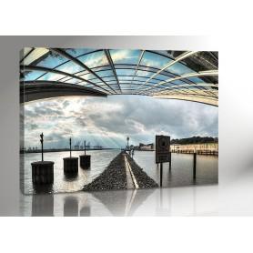 HAMBURG DOCKLAND VIEW 140 x 100 cm