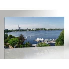 HAMBURG ALSTER OVERVIEW 200 x 100 cm