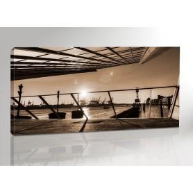 Hamburg Dockland Sun Panorama 200 x 100 cm