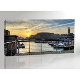 Hamburg Sunset 200 x 100 cm