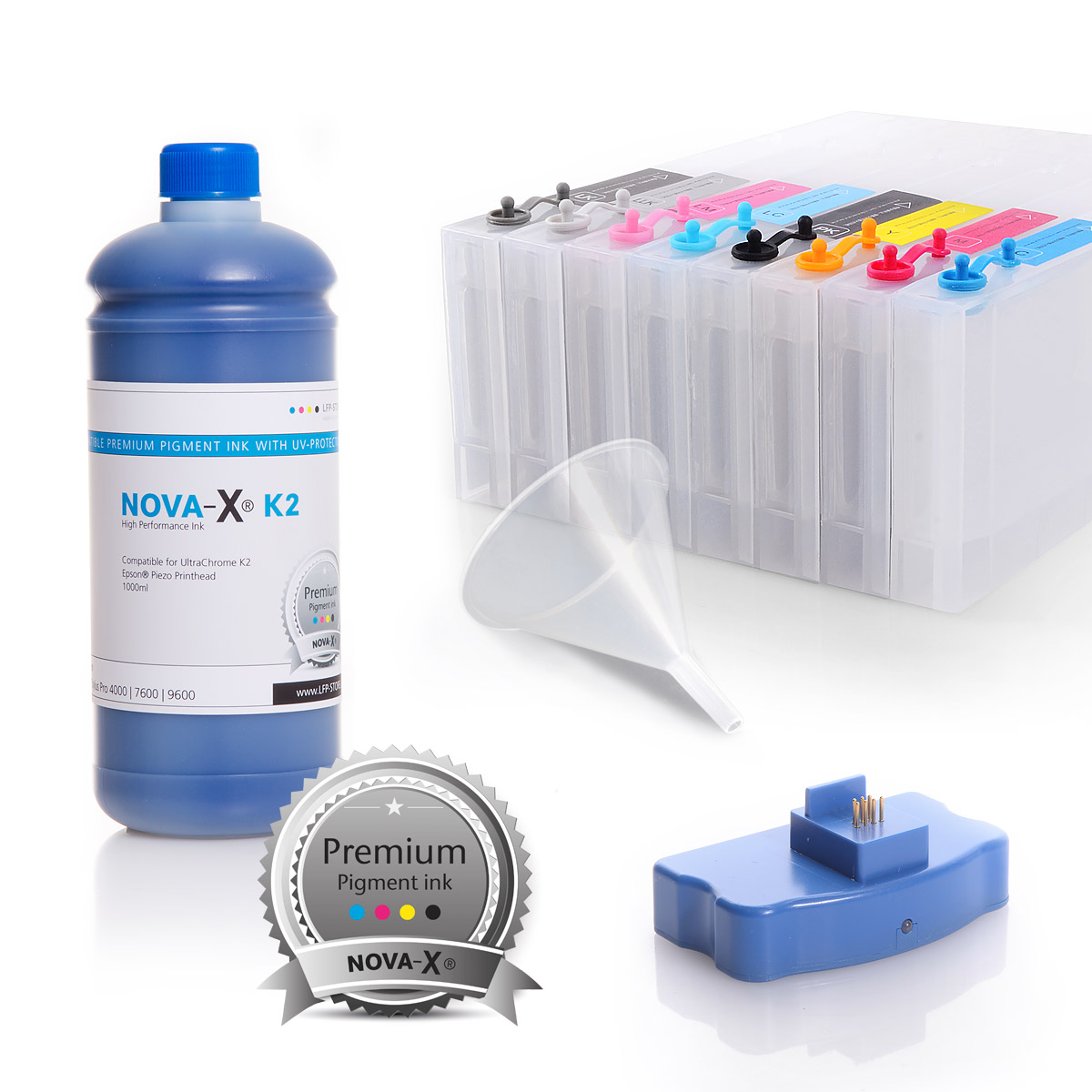 All Inclusive Set | 1L | NOVA-X® K2 kompatibel für Epson® Stylus Pro 4000