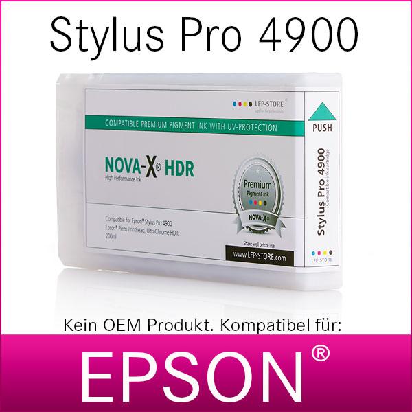 Tintenpatrone NOVA-X® HDR | kompatibel für Epson® Stylus Pro 4900 | 200ml