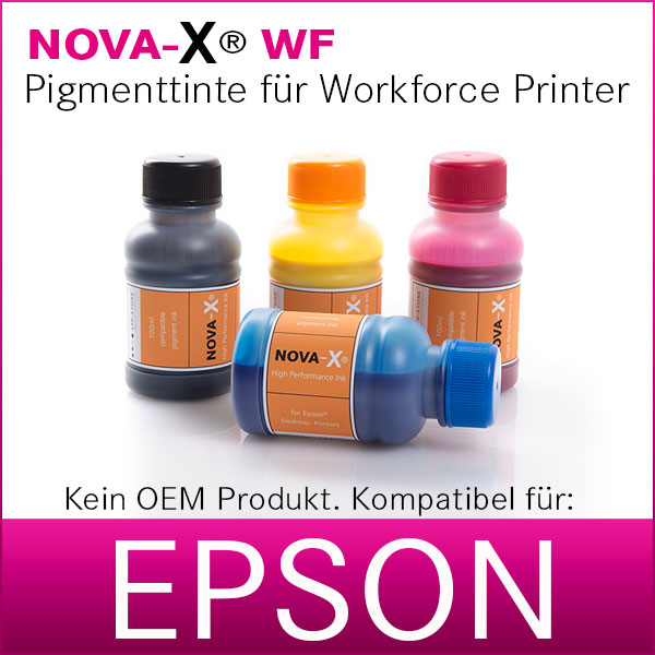 Tintenset | NOVA-X® WF | 4x100ml | kompatibel für Epson Workforce