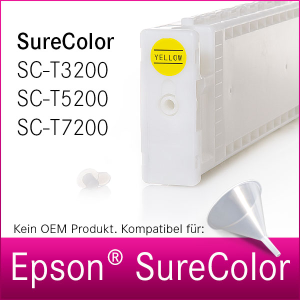 Leere Tintenpatrone | kompatibel | Epson SureColor T3200 | T5200 | T7200 | 700ml