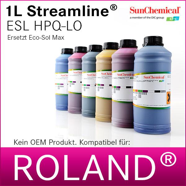 1L Streamline® ESL HPQLO | für Roland® | Premium Tinte von SunChemical®