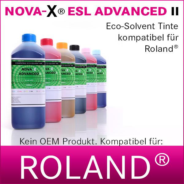 1L NOVA-X® ESL ADVANCED II | Eco Solvent Tinte | Roland® Eco-Sol-MAX kompatibel