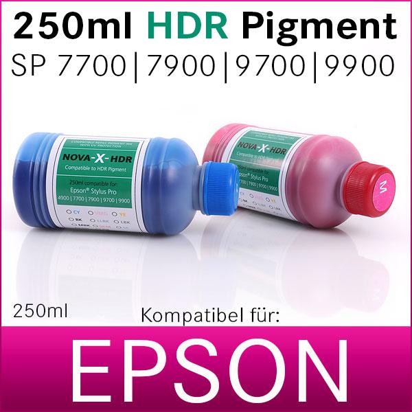 250ml NOVA-X® HDR Pigmenttinte kompatibel Epson Stylus Pro 7700 7900 9700 9900