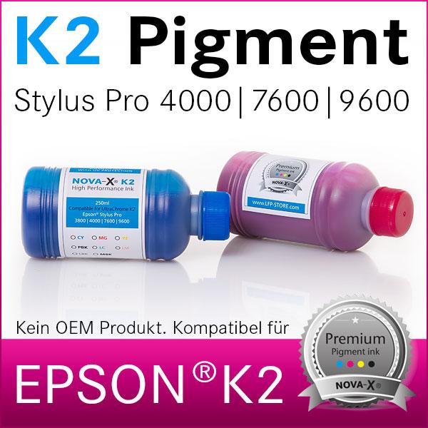 250ml NOVA-X® K2 Pigmenttinte kompatibel Epson Stylus Pro 4000 7600 9600