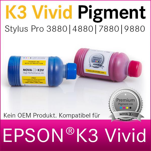 250ml NOVA-X® K3V Pigmenttinte kompatibel Epson Stylus Pro 3880 4880 7880 9880