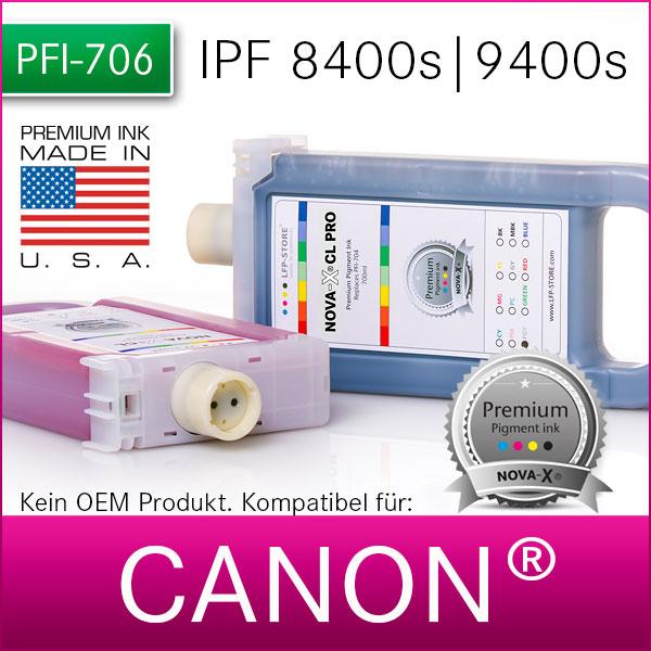 PFI-706 | NOVA-X® CL PRO | Premium Pigmenttinte für Canon® IPF 8400/s | 9400/s