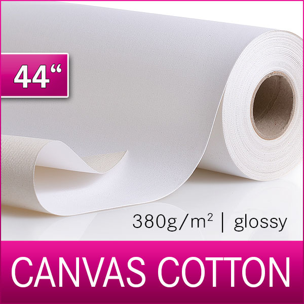 1 Rolle Cotton Inkjet Canvas | Leinwand | Glossy | 380G | 111,8 m x 18m