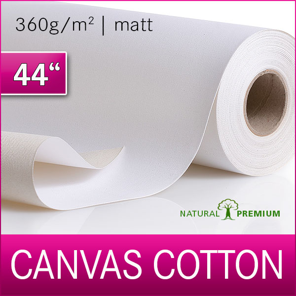 1 Rolle Cotton Inkjet Canvas | Leinwand | 360M | 111,8 x 18m