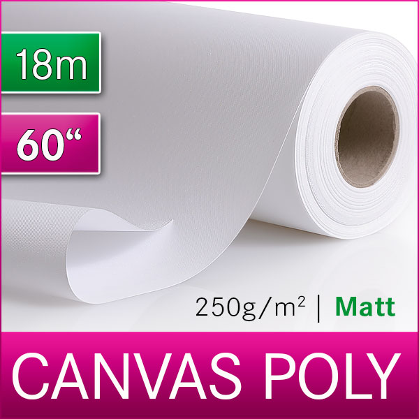1 Rolle Inkjet Canvas | Leinwand | Polyester | 250 M | 1,52 m x 18m