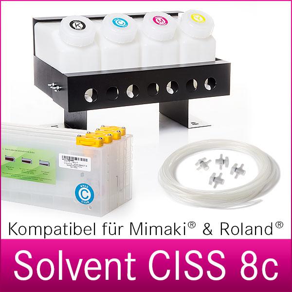 CISS System 8c  | Schlauchsystem | für Mimaki und Roland Drucker