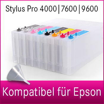 Leere Tintenpatrone | 300ml | kompatibel für Epson Stylus Pro 4000|7600|9600
