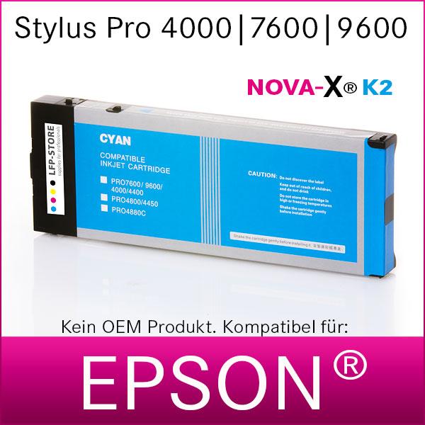 Tintenpatrone NOVA-X® K2 Pigmenttinte kompatibel Epson Stylus Pro 4000 7600 9600