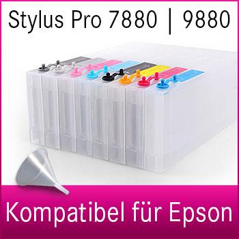 Leere Tintenpatrone | 300ml | kompatibel für Epson Stylus Pro 7880 | 9880