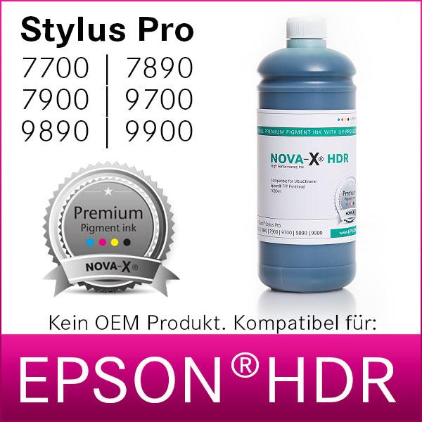 1L NOVA-X® HDR Pigmenttinte kompatibel Epson Stylus Pro 4900|7700|7900|9700|9900