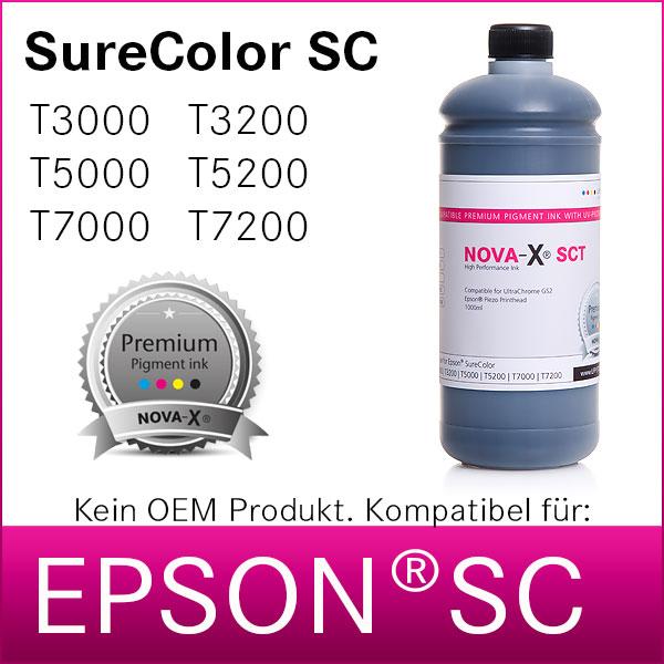 1L NOVA-X® SCT Pigmenttinte kompatibel Epson SureColor T3200 T5200 T7200
