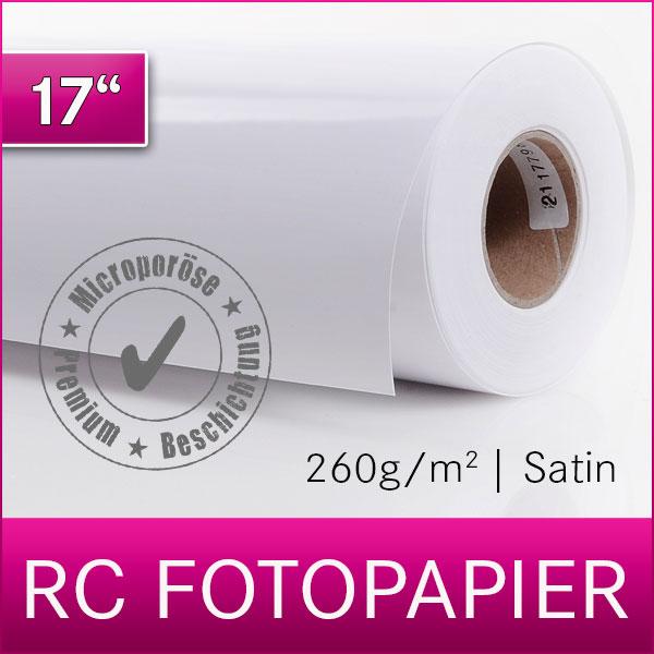 1 Rolle Inkjet RC Fotopapier | PREMIUM | Satin | 260SM | 43,2 cm x 30 m