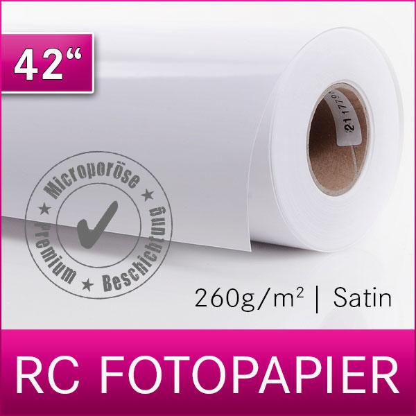 1 Rolle Inkjet RC Fotopapier | PREMIUM | Satin | 260SM | 106,7 cm x 30 m