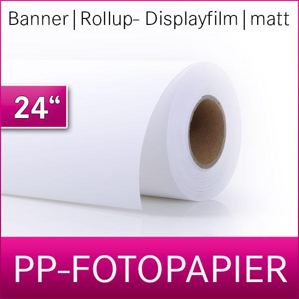 PP- Fotopapier | Banner | Displayfilm | Rollup Film |  61cm x 30m