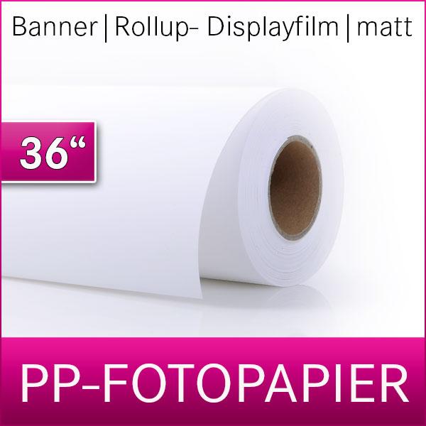 PP- Fotopapier | Banner | Displayfilm | Rollup Film | 91,4cm x 30m