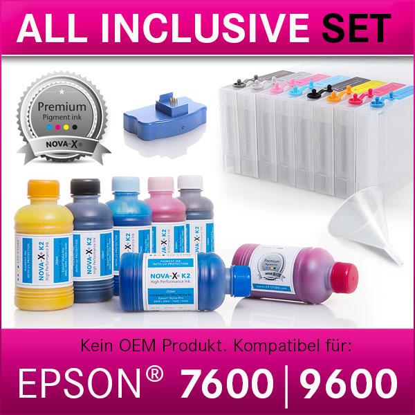 All Inclusive Set | 250ml | NOVA-X® K2 kompatibel Epson® Stylus Pro 7600 | 9600