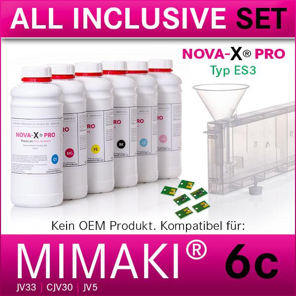 6c Starterset   ES3   Mimaki® JV33 CJV30 JV5  NOVA-X® PRO   Permanent Chip
