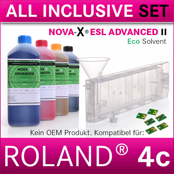 4c | Starterset Roland® | NOVA-X® ESL ADVANCED II | Permanent Chip