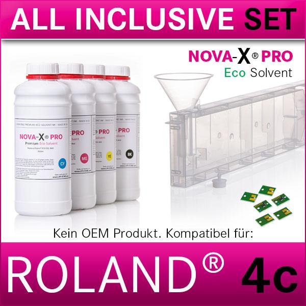 4c | Starterset Roland® | NOVA-X® PRO | Permanent Chip