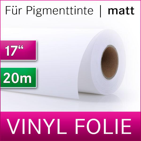 """1 Rolle Outdoor Vinylfolie   selbstklebend   matt   17"""" = 0,432 cm  x 20m"""
