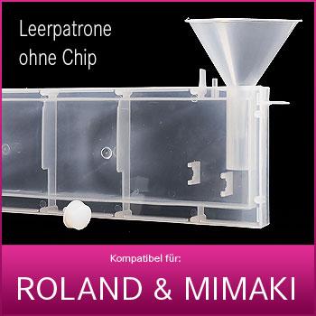 Leere refill Patrone ohne Chip für Mimaki® & Roland® | 440ml