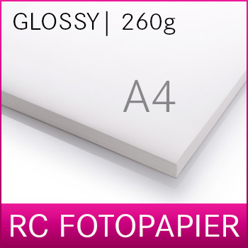 A4 Inkjet RC Photopaper | PREMIUM | Glossy | 260G | 20 sheets