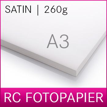 A3 Inkjet RC Fotopapier | PREMIUM | Satin | 260SM | 20 Blatt